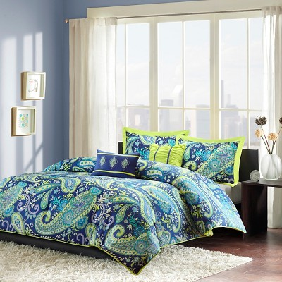 Maya 5 Piece Comforter Set - Blue ( Full/Queen )