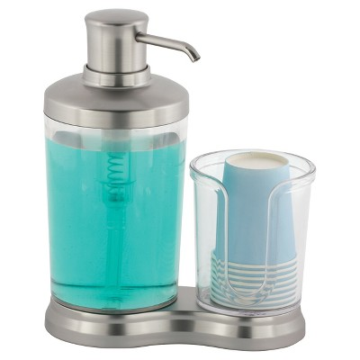 InterDesign Gina Mouthwash Caddy Clear/Brushed - Nickel