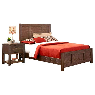 bed stands target barnside bed and stand rustic brown king target