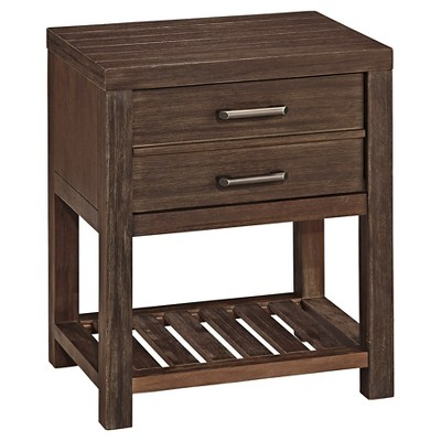 Barnside Night Stand Rustic Brown - Home Styles