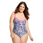 Lilly Pulitzer for Target Women's Plus Size Underwire One Piece Swimsuit - Upstream