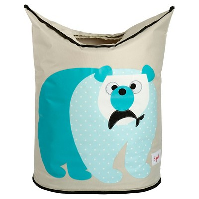 3 Sprouts Canvas Storage Hamper - Polar Bear