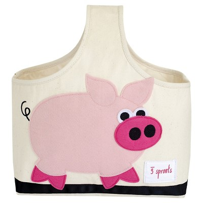 3 Sprouts Fabric Storage Caddy - Pig