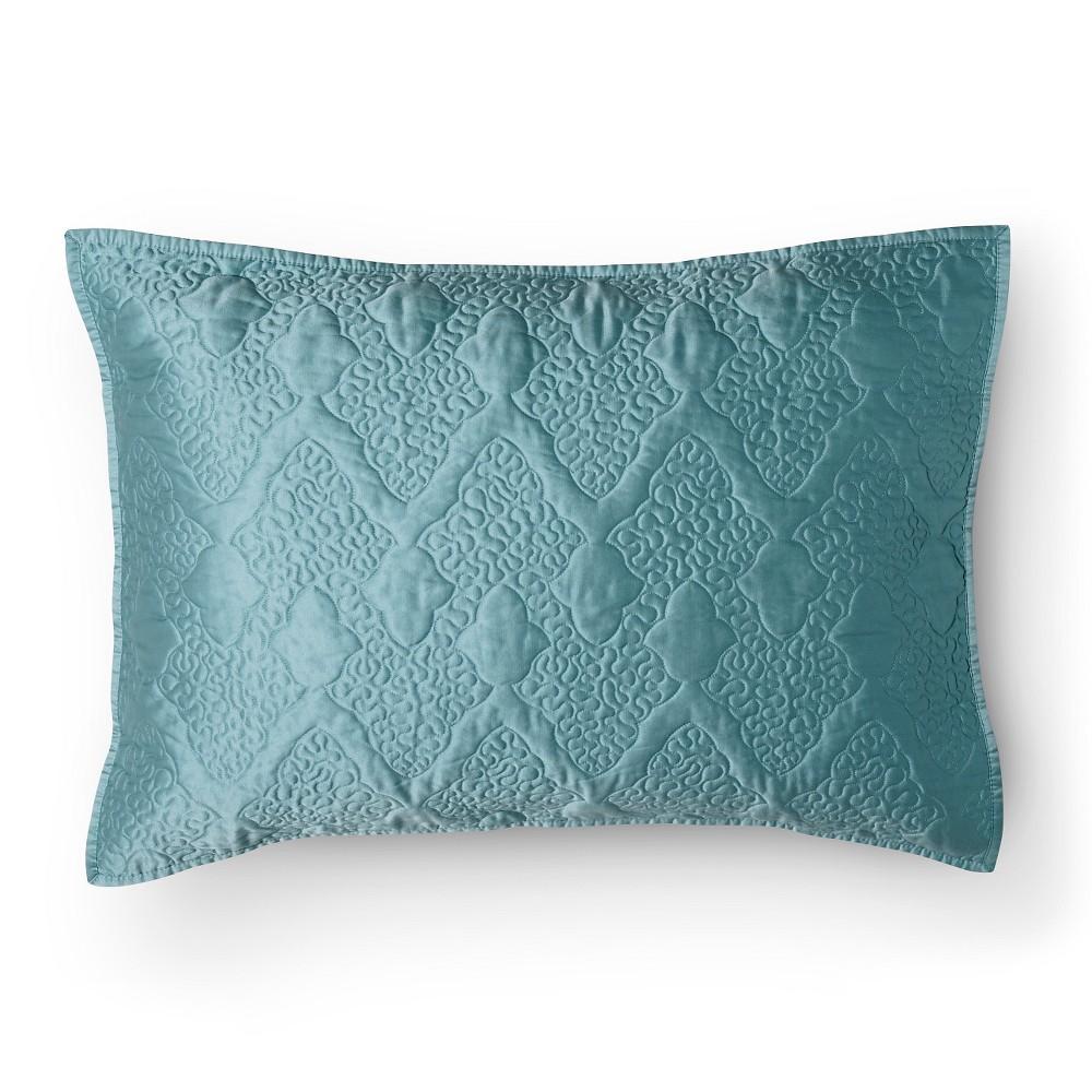 Fieldcrest Luxury Decorative Pillows : FIELDCREST LUXURY VERMICELLI PILLOW SHAM - TURQUOISE