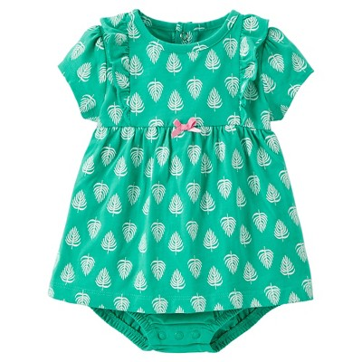 Just One You™Made by Carter's® Newborn Girls' Leaves Bodysuit Dress NB