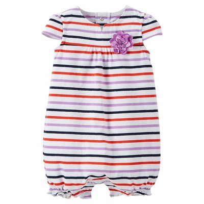 Just One You™Made by Carter's® Newborn Girls' Striped Romper NB