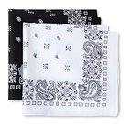 Men's 2pk Bandana Handkerchiefs Black and White - Mossimo Supply Co.™