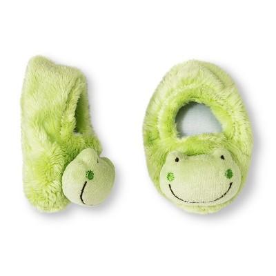 Gerber® Newborn Frog Velboa Bootie - Green