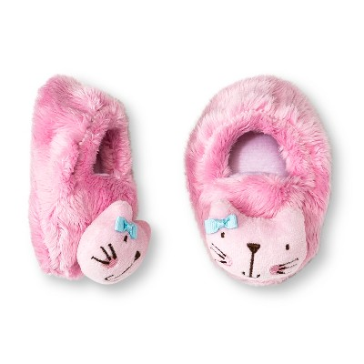 Gerber® Newborn Girls' Kitty Velboa Bootie - Pink
