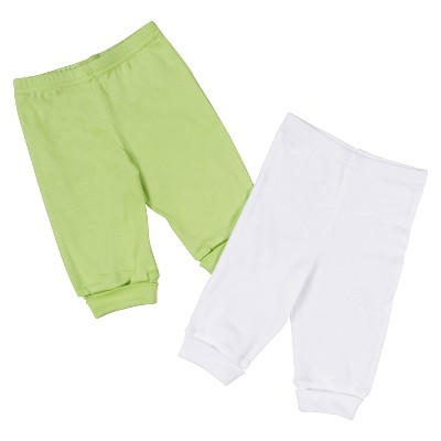 Gerber® Newborn 2 Pack Pant Set - Green/White 0-3 M