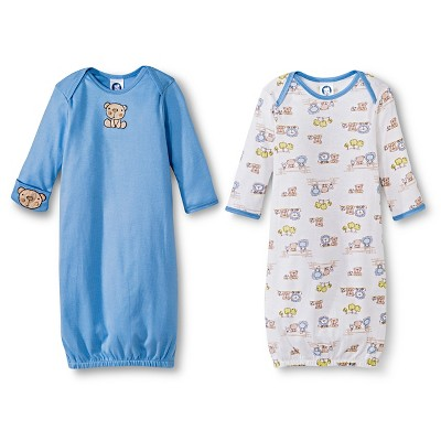 Infant Gerber Nightgowns 0-6 MONTHS Blue