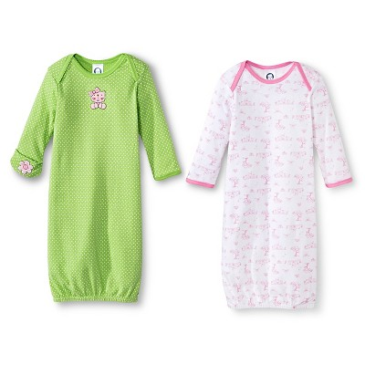 Gerber® Newborn Girls' 2 Pack Kitty Gown Set