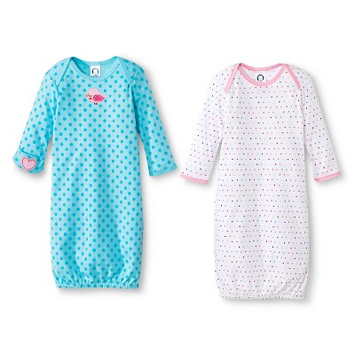 Gerber® Newborn Girls' 2 Pack Bird Gown Set