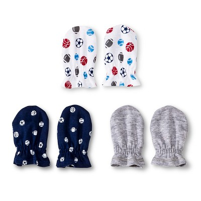 Gerber® Newborn Boys' 3 Pack Mitten Set
