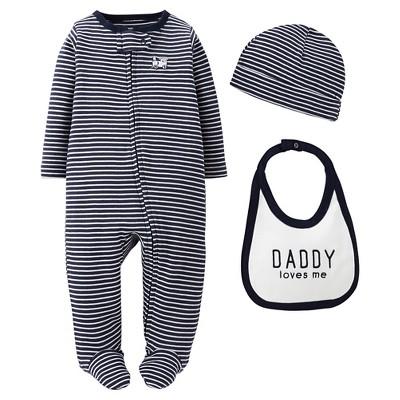 Precious Firsts™Made by Carter's® Newborn Boys' 3 Piece Sleep N' Play Set 9 M
