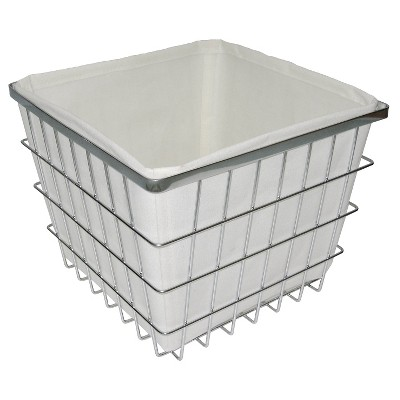 Bath Basket with Linen Insert Chrome Medium Threshold™