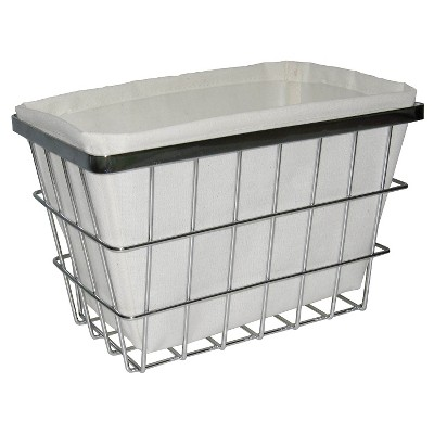 Bath Basket with Linen Insert Chrome Small Threshold™