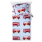 My World Cotton Fire Truck Quilt Set