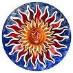 3DWall Art Sun Face - Blue/Red