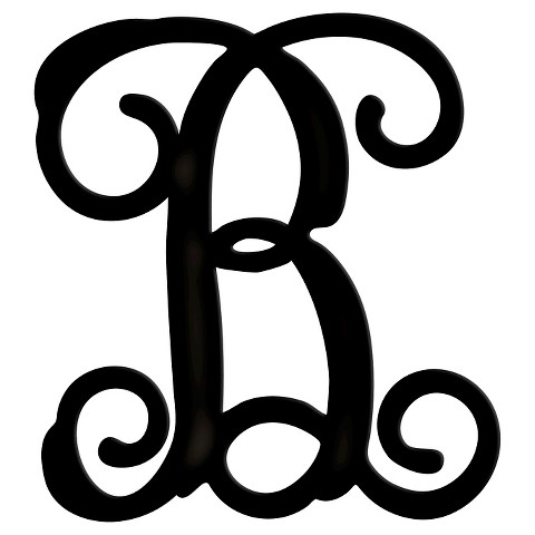 Monogram ornate b black medium product details page