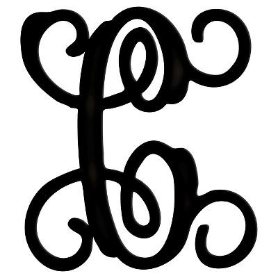 Monogram Ornate C - Black (Medium)