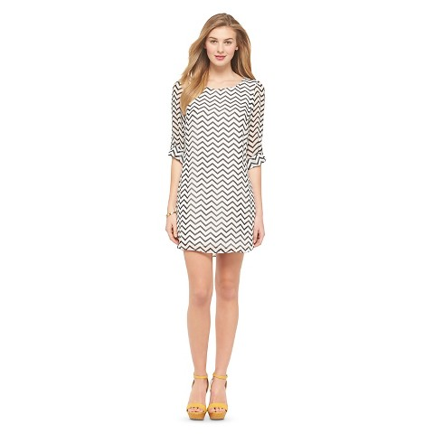 Printed Shift Dress - Lots of Love by Speechless