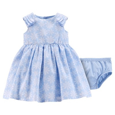 Just One You™ Made by Carter's® Girls' Floral Dress - Light Blue NB