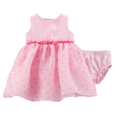 Just One You™ Made by Carter's® Girls' Polka Dot Dress - Heavenly Pink NB