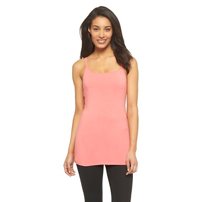 Women's Nursing Cotton Cami Playful Coral Pink L - Gilligan & O'Malley™