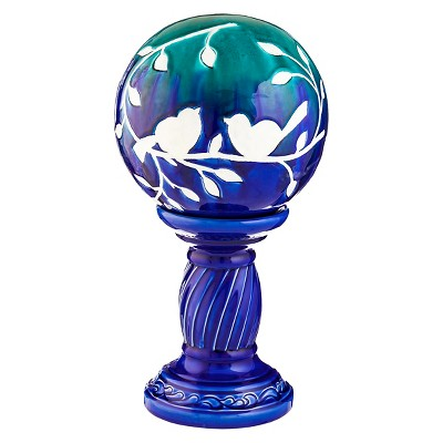 Gazing Ball with Stand - Multicolor