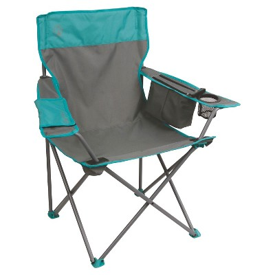 Coleman® Cooler Quad Chair - Grey & Teal