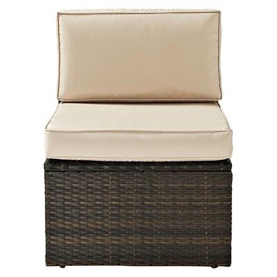 Outdoor Wicker Center Chair - Brown