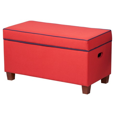 Kids storage ottoman red homepop target for Kids storage ottomans