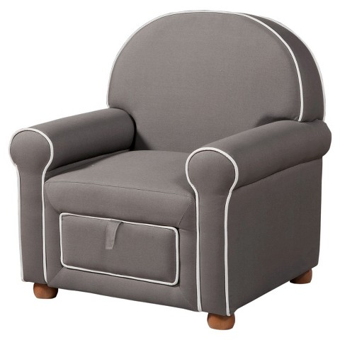 Kids Upholstered Chair Grey HomePop Tar