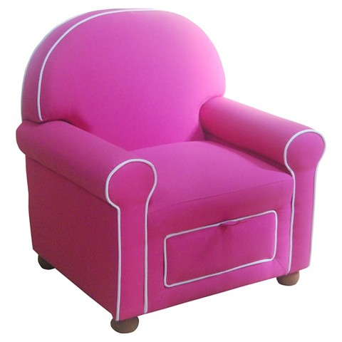 Kids Upholstered Chair Pink HomePop Tar