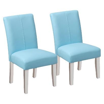 Kids Upholstered Chair Set of 2 Tar