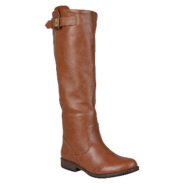 Women's Journee Collection Buckle Detail Fashion Boots