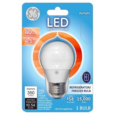 ge led 40 watt appliance light bulb soft white target. Black Bedroom Furniture Sets. Home Design Ideas