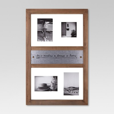 4-Pane Wood Frame with Metal Detail - Threshold™