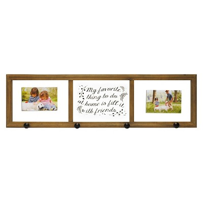 Threshold™ Wood Multi-Photo Frame with Hooks