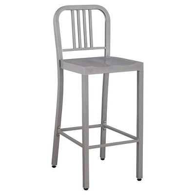 "Low Back 29"" Barstool Metal/Silver - Ace Bayou"
