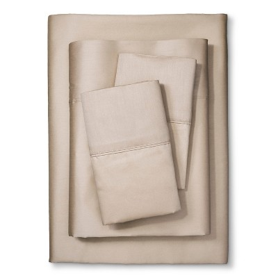 Kassatex 300TC Sateen Egyptian Cotton Sheet Set - Sandstone (Queen)