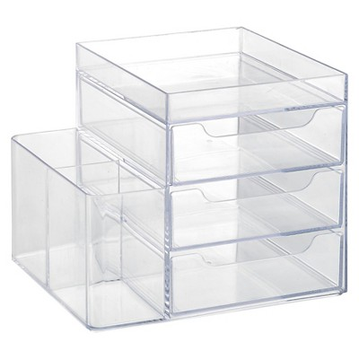 3 Drawer Cosmetic Organization System Clear Merrick