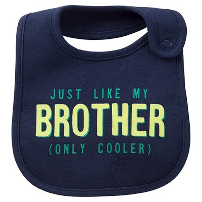 Just One You™Made by Carter's® Newborn Boys' Just Like My Bro Bib Navy