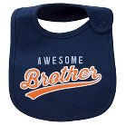 Just One You™Made by Carter's® Newborn Boys' Awesome Brother Bib Blue