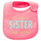 Just One You™Made by Carter's® Newborn Girls' Awesome Sister Bib Pink