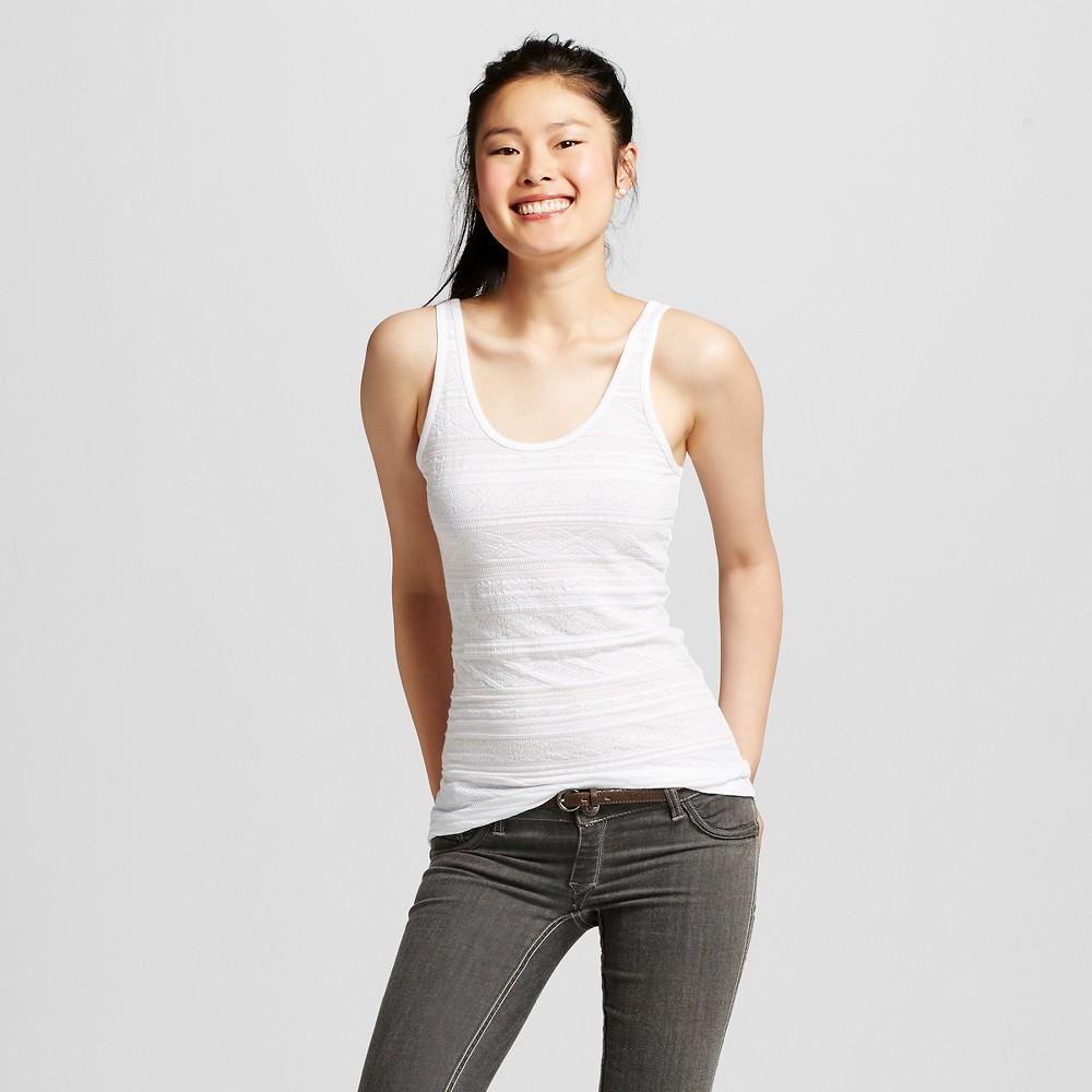 Women's Long & Lean Jacquard Tank Fresh White Xl - Mossimo Supply Co. (juniors')