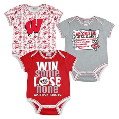 Wisconsin Badgers Boys Body Suit 6-9M