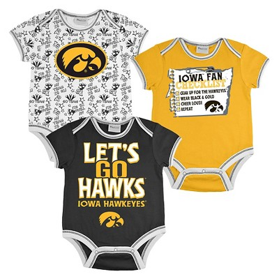 Iowa Hawkeyes Boys Body Suit 0-3M