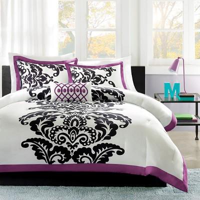Ibiza 4 Piece Comforter Set - Purple (Full/Queen)